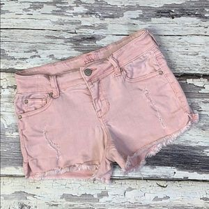 Blush Pink Distressed Celebrity Pink Jean Shorts